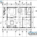 Mẫu nhà cấp 4 đẹp 8x10m tại Vân Đình Hà Nội NC42