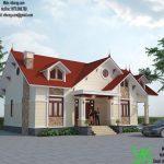 Mẫu thiết kế biệt thự đẹp hiện đại 1 tầng 12x15m tại Thái Bình BT1T1