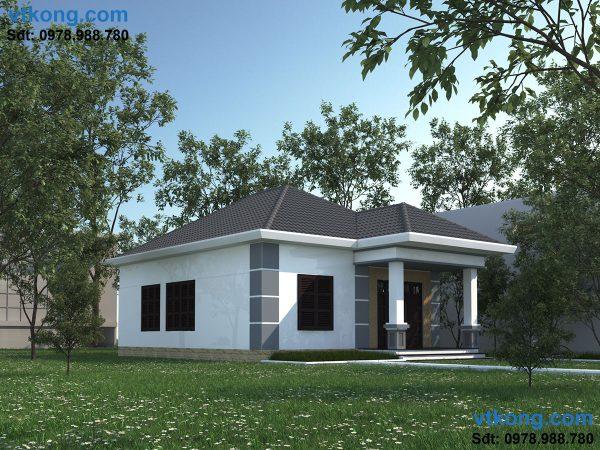 Thiết kế mẫu nhà cấp 4 đẹp tại Vân Đình NC42