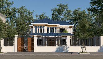 Thiết kế nhà 2 tầng mái thái đơn giản BT2T1