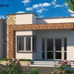 Thiết kế nhà cấp 4 đẹp ở nông thôn, nhà cấp 4 8x10m tại Lào Cai NC41