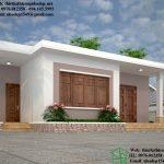Thiết kế nhà mái bằng nông thôn, nhà cấp 4 mái bằng 9x7.5m NC43