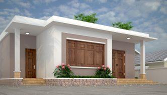 Thiết kế nhà mái bằng nông thôn NC43