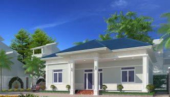 Thiết kế nhà xinh 1 tầng tại Nam Định BT1T3
