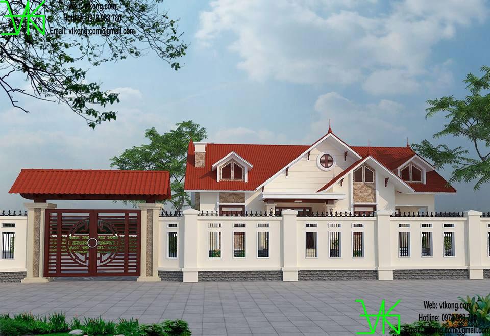 Thiết kế thi công biệt thự 1 tầng BT1T1