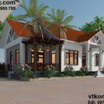 Mẫu thiết kế nhà đẹp mái thái 1 tầng 10x16m tại Thái Nguyên BT1T8