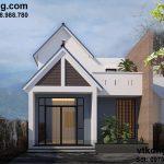 Thiết kế nhà cấp 4 gác lửng đơn giản giá rẻ tại Đà Lạt 6.5x11m NC44