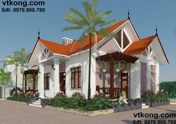Nhà đẹp mái thái 12 tầng 10x16m tại Thái Nguyên BT1T8