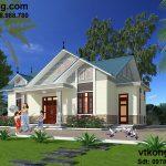 Thiết kế mẫu nhà 1 tầng đẹp 12x15m tại Mộc Châu BT1T12