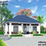 Thiết kế nhà vườn 1 tầng mái thái tại 9x13 tại Thủy Nguyên Hải Phòng BT1T6