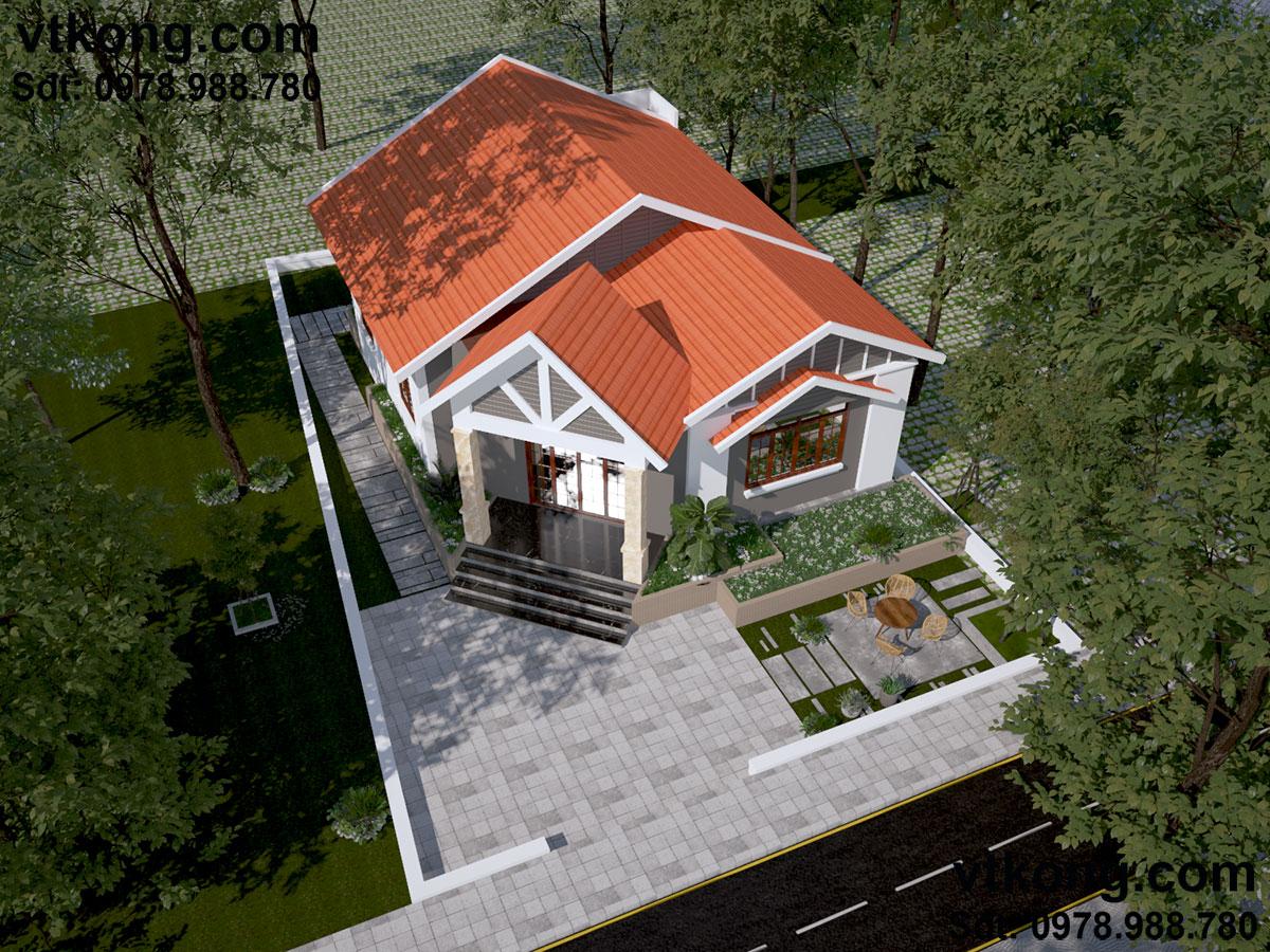 Ý nghĩa của biệt thự vườn 1 tầng mái ngói