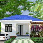 Thiết kế nhà cấp 4 mái tôn 9x10m tại Nam Định NC48