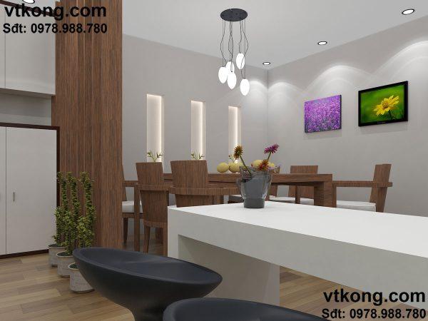 Phòng ăn nhà cấp 4 đẹp NC410