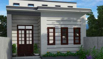 Thiết kế nhà cấp 4 mái bằng NC410