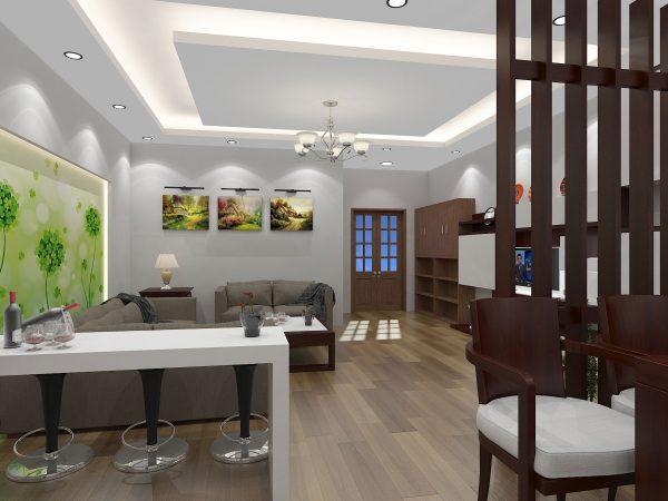 Thiết kế nội thất phòng khách nhà cấp 4 mái bằng NC410