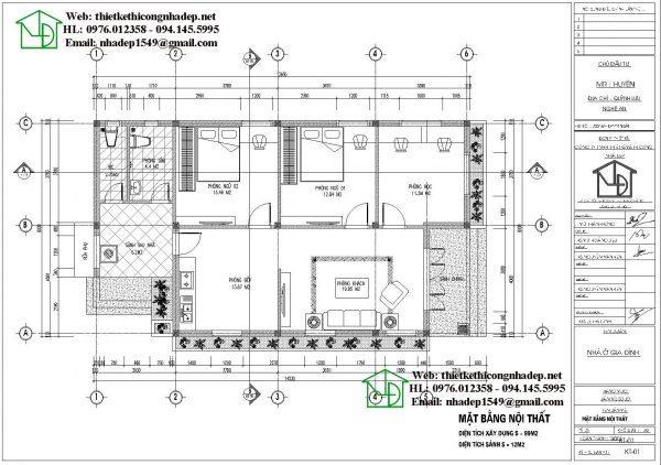 biệt thự vườn 1 tầng 3 phòng ngủ