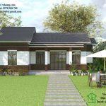 Mẫu nhà cấp 4 80m2 mái thái đơn giản tại Hà Tây NC414