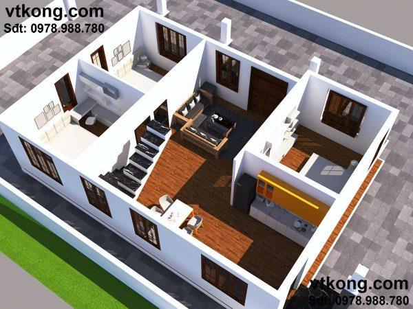 biệt thự nhà vườn 1 tầng 3 phòng ngủ