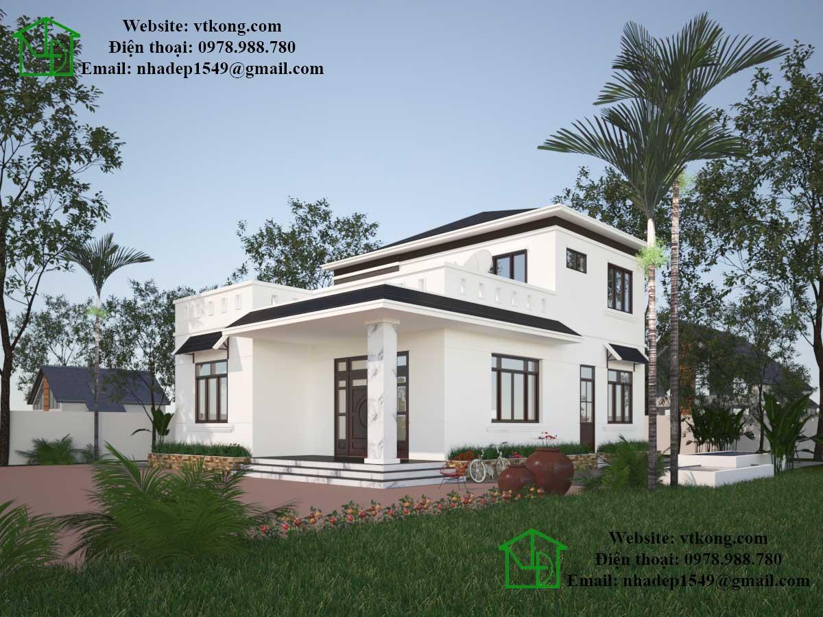 Biệt thự 2 tầng 9x10m mái thái đẹp tại Nghệ An BT2T6