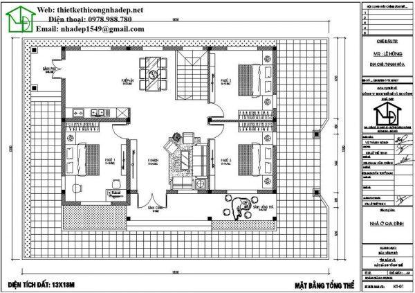 biệt thự nhà vườn 1 tầng 3 phòng ngủ 2