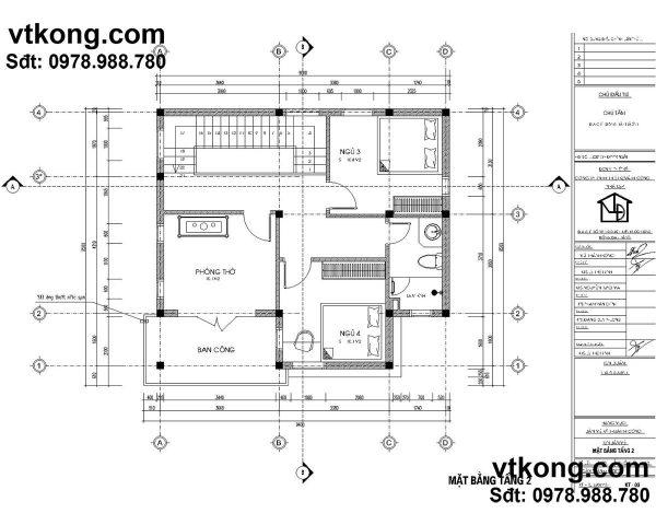 biệt thự 2 tầng 90m2