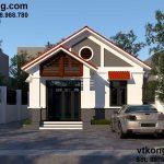 Thiết kế mẫu nhà cấp 4 7x14m đẹp ở Thái Bình NC419