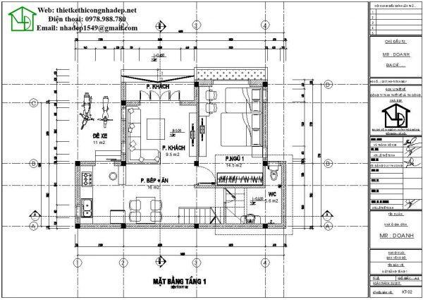 mẫu nhà cấp 4 9x10m 10