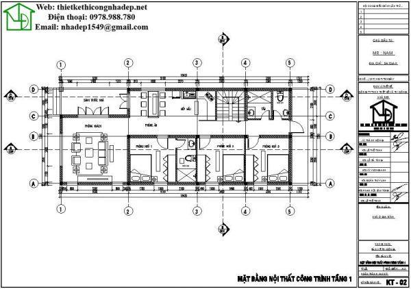 nhà cấp 4 gác lửng 7x18m mặt bằng nội thất