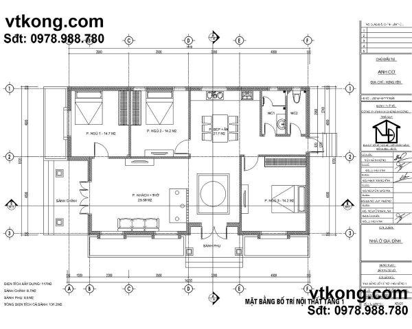 biệt thự vườn 1 tầng 9x14m