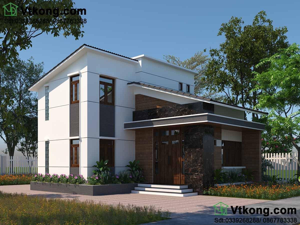 Thiết kế biệt thự nhỏ 2 tầng 9x13m