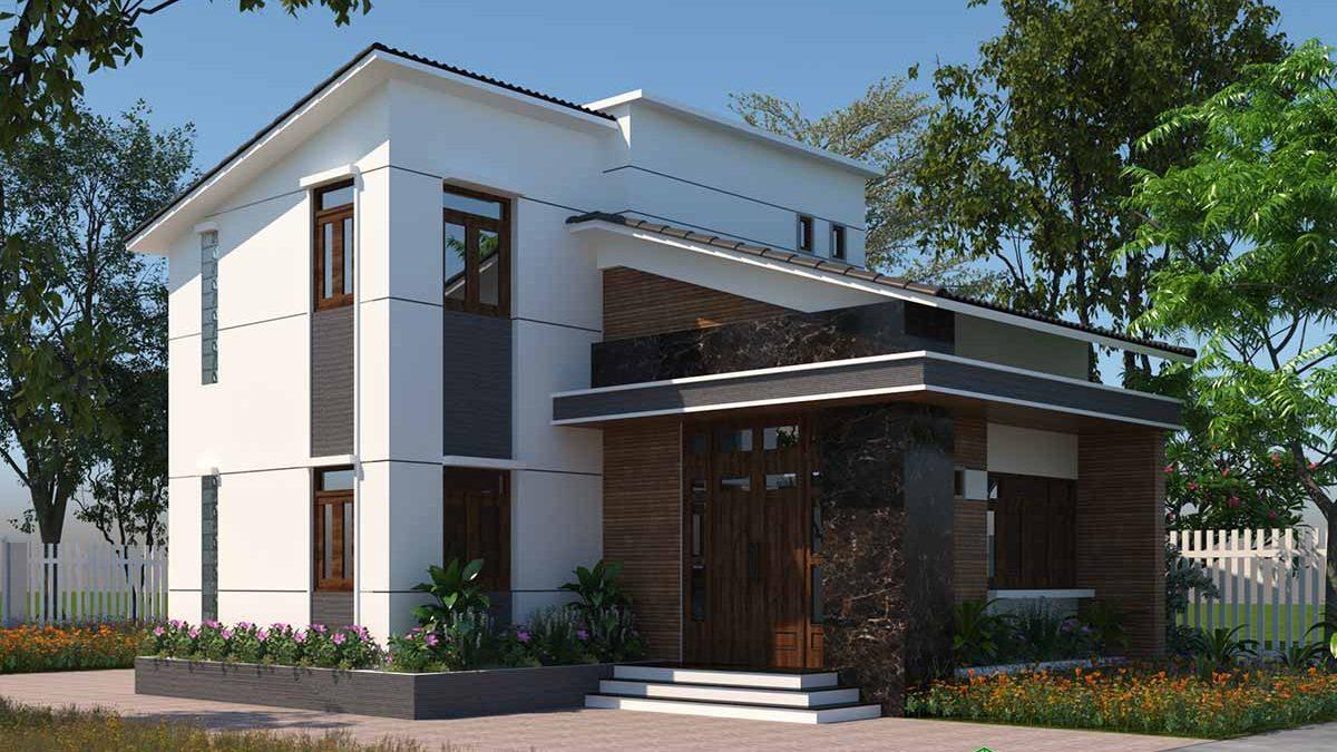 Thiết kế mẫu biệt thự nhỏ 2 tầng 9x13m đẹp 700 triệu NBT2T24