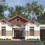 Mẫu nhà cấp 4 8x14m nông thôn mái thái giá rẻ 500 triệu NC428
