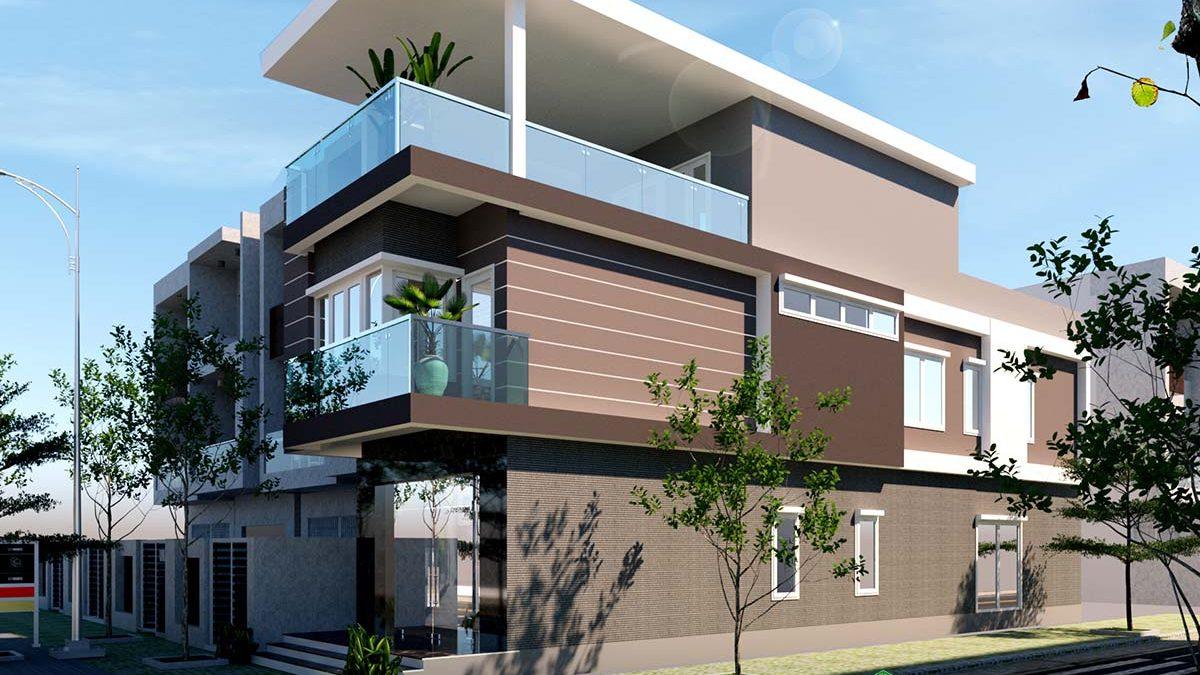 Khám phá mẫu nhà phố 3 tầng mặt tiền 5m cho gia đình hiện đại NP3T01