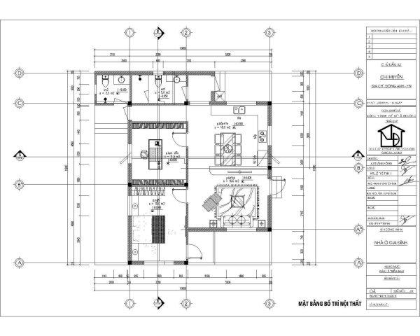 mặt bằng nội thất nhà cấp 4 90m2