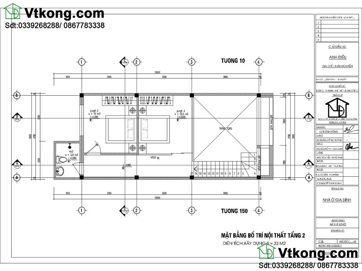 Bản vẽ tầng lửng Mẫu nhà cấp 4 5x13m hiện đại và khoa học