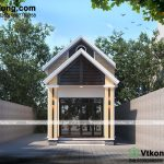 Bản vẽ mẫu nhà cấp 4 5x17m 2 phòng ngủ công năng hợp lý NC430