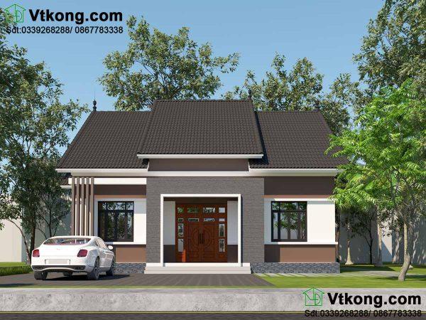 Mặt tiền nhà cấp 4 mái thái 9x12m tại Thái Bình