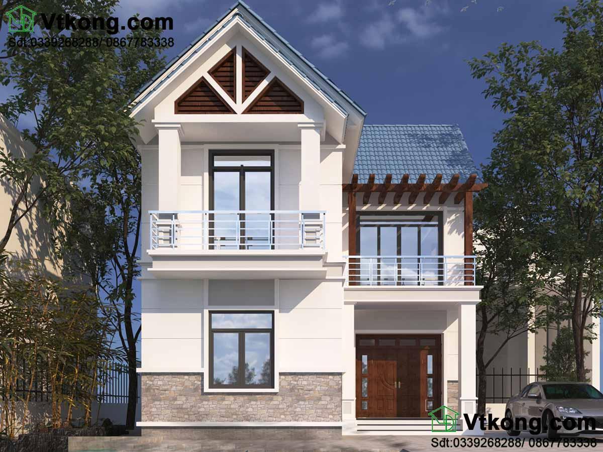 Kiến trúc mái thái hiện đại mẫu biệt thự 2 tầng 9x10m