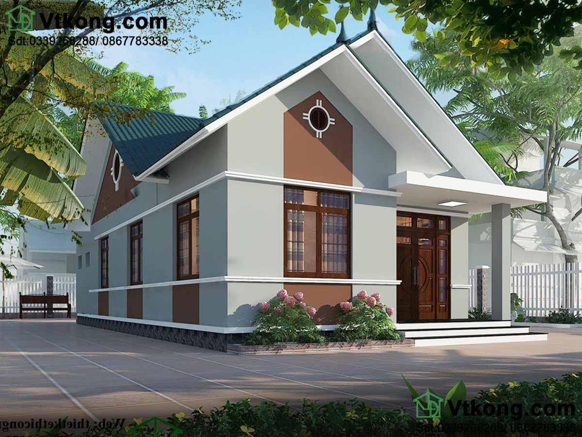 Thiết kế mẫu nhà cấp 4 đẹp 9x16m mái thái hiện đại và khoa học