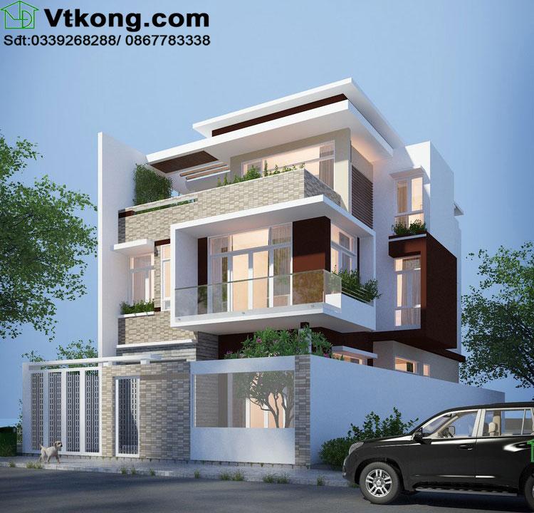 Thiết kế nội thất biệt thự 3 tầng 2 mặt tiền BT3T1