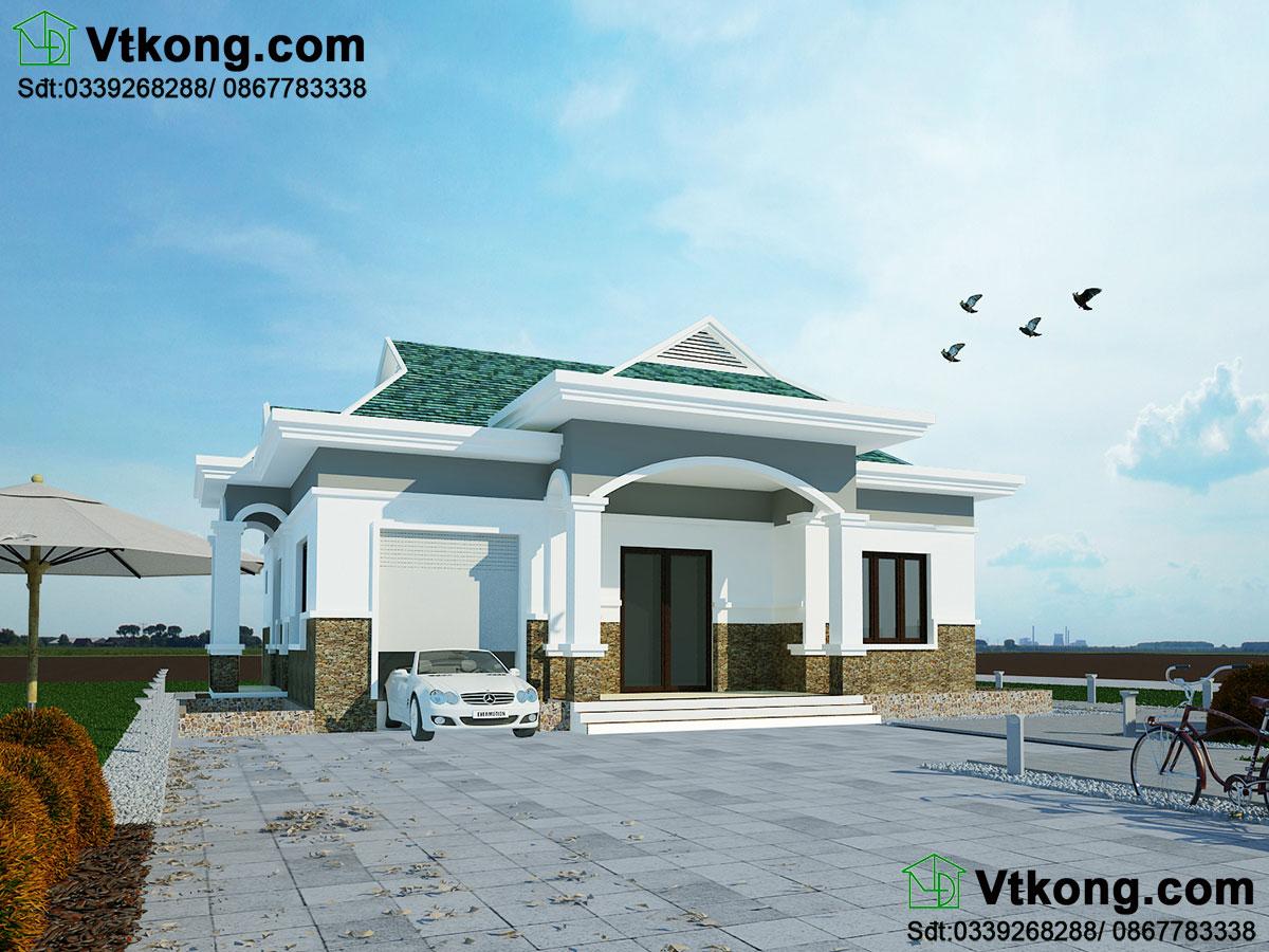 Mẫu thiết kế biệt thự 1 tầng, biệt thự 1 tầng tại Hà Nam BT1T29