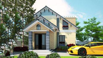 Thiết kế biệt thự 2 tầng mái thái 8x12m BT2T19