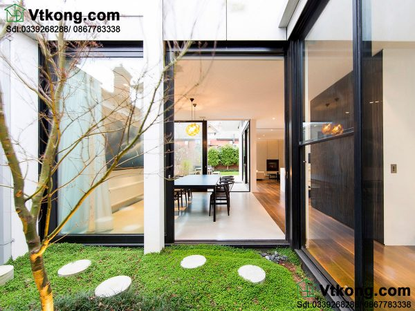 Thiết kế sân vườn nhà 2 tầng đẹp BT2T18