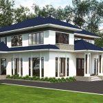 Tư vấn thiết kế mẫu biệt thự hiện đại 2 tầng mái đẹp BT2T28