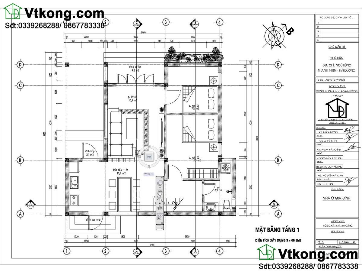 Thiết kế nội thất mẫu thiết kế nhà cấp 4 diện tích 80m2