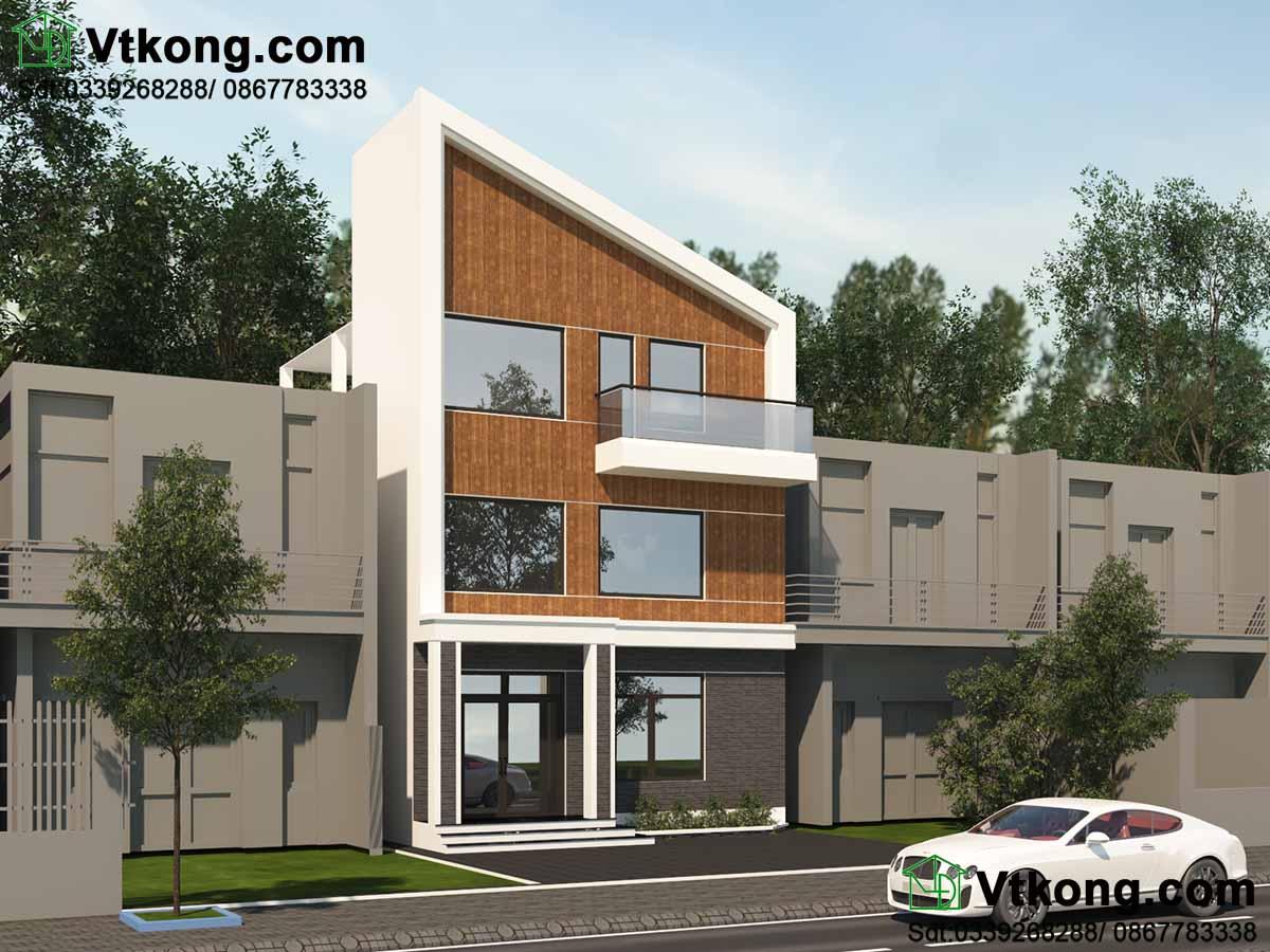 thiết kế  mẫu nhà phố 3 tầng 7x10m hiện đại
