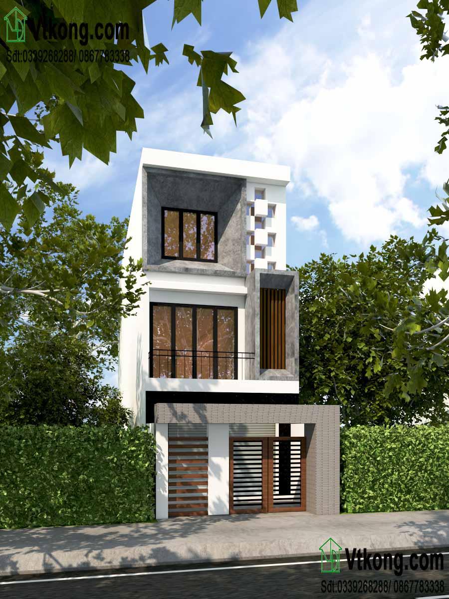 mẫu nhà phố 3 tầng 5x17m đẹp hiện đại