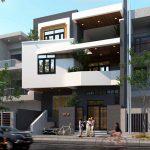 Tư vấn thiết kế nhà phố 3 tầng mặt tiền 10m độc đáo NP3T05