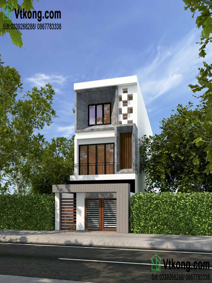 Mẫu thiết kế công trình mẫu nhà phố 3 tầng 5x17m hiện đại và khoa học