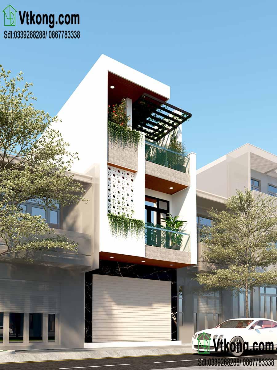 Mẫu thiết kế nhà phố 3 tầng 4.5x18m đẹp và khoa học
